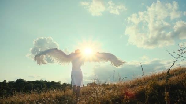 White angel and sun