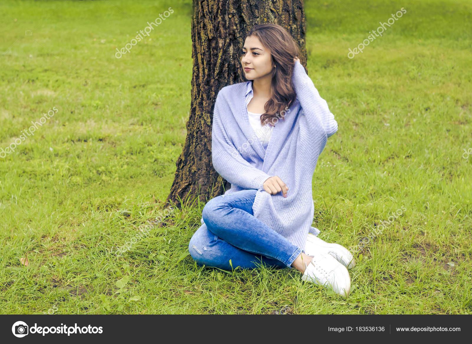 Photos Indian Natural Beauty Beautiful Young Woman Resting Nature Indian Girl Relaxing Park Stock Photo C Sasha2109 183536136