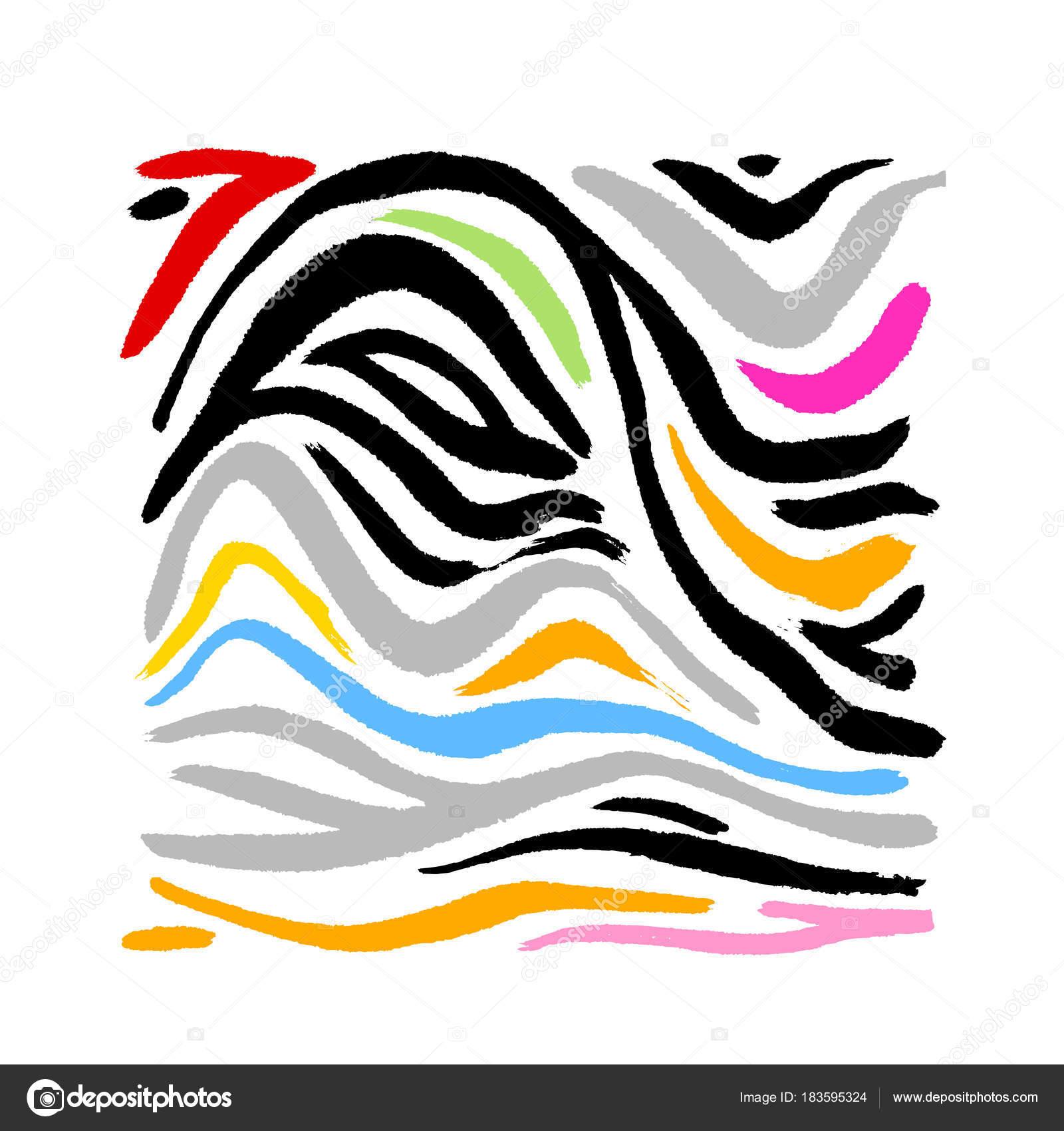 zebra print hand drawn pattern illustrations vector stock vector rh depositphotos com zebra print vector art free zebra print seamless vector