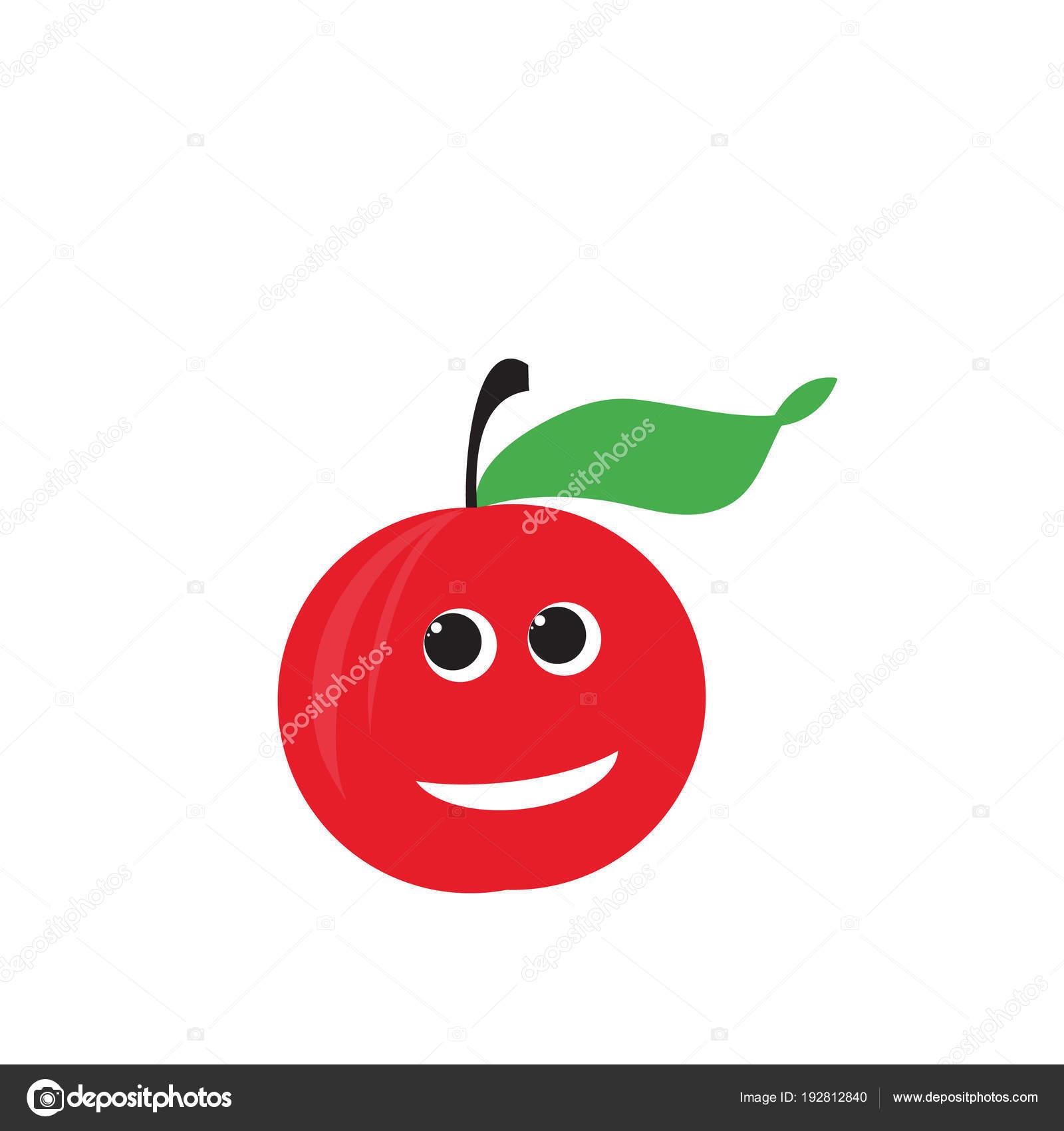 Red apple fruit vector illustration happy apple red apple fruit vector illustration happy apple voltagebd Gallery