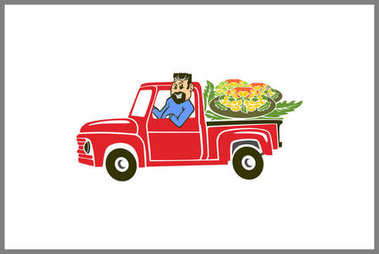 red truck delivery order