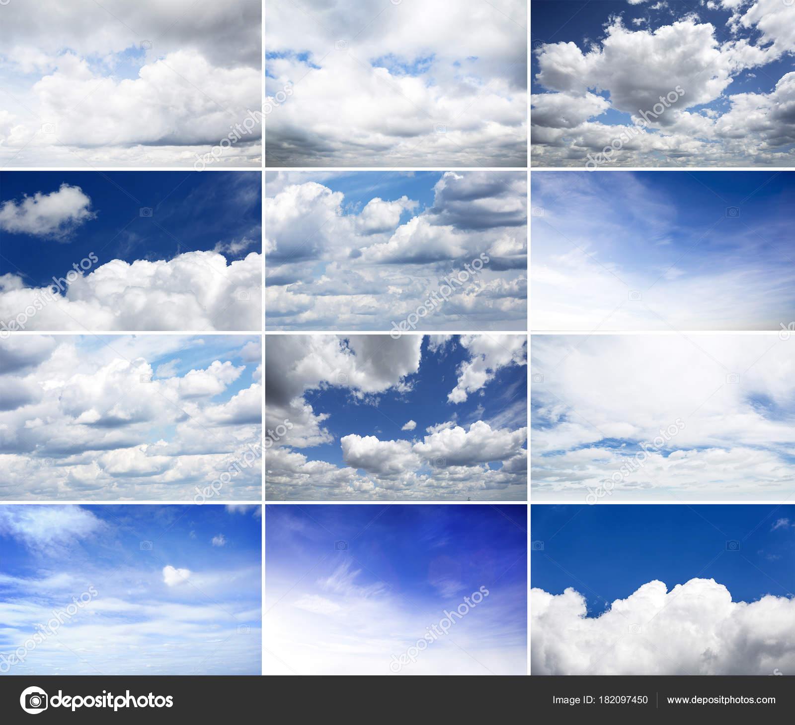 vast blue sky clouds sky blue sky background tiny clouds — stock
