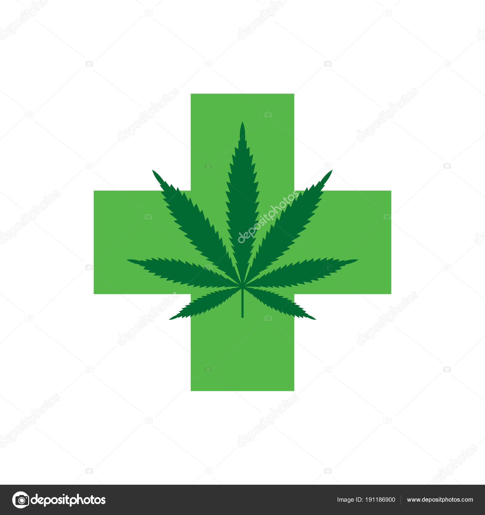 marijuana leaf with green cross medical cannabis icon logo template stock vector c olga newname yandex ru 191186900 https depositphotos com 191186900 stock illustration marijuana leaf with green cross html