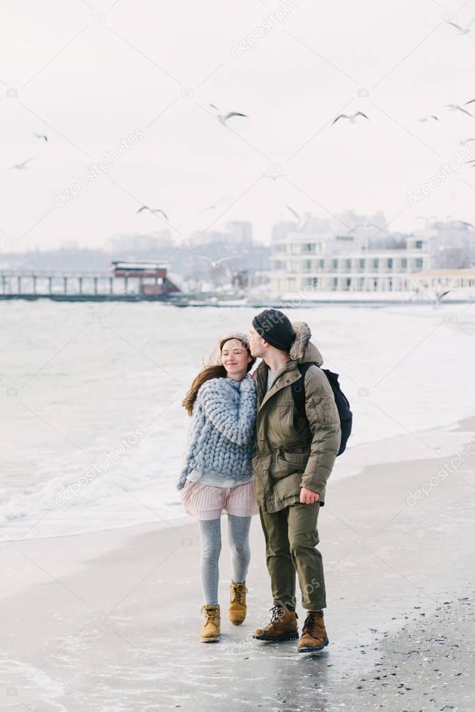 winter seashore
