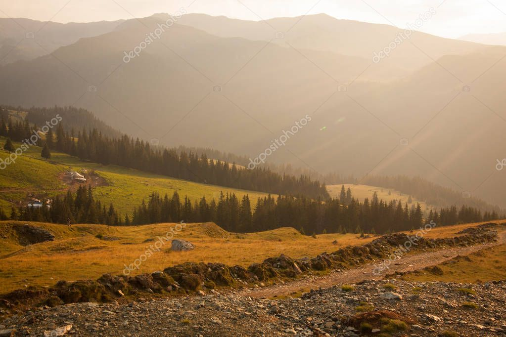 Transalpina, Romania, summer, sunny day