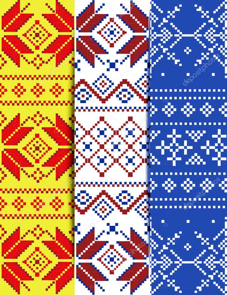 Set Christmas Embroidery Pattern Stock Vector Lilileka 127536446
