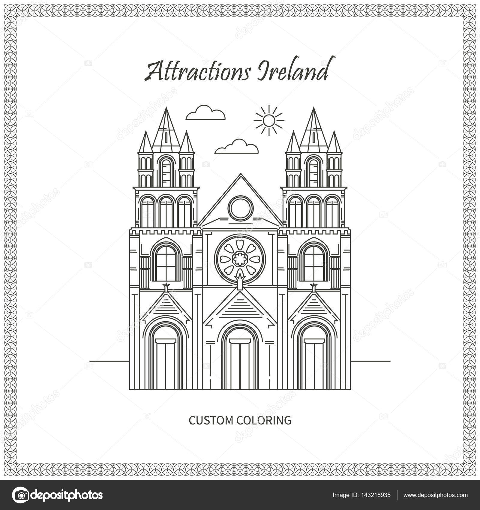 Fotos de monumentos Irlanda — Vector de stock © lilileka #143218935