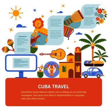 Tourist banner of Cuban culture
