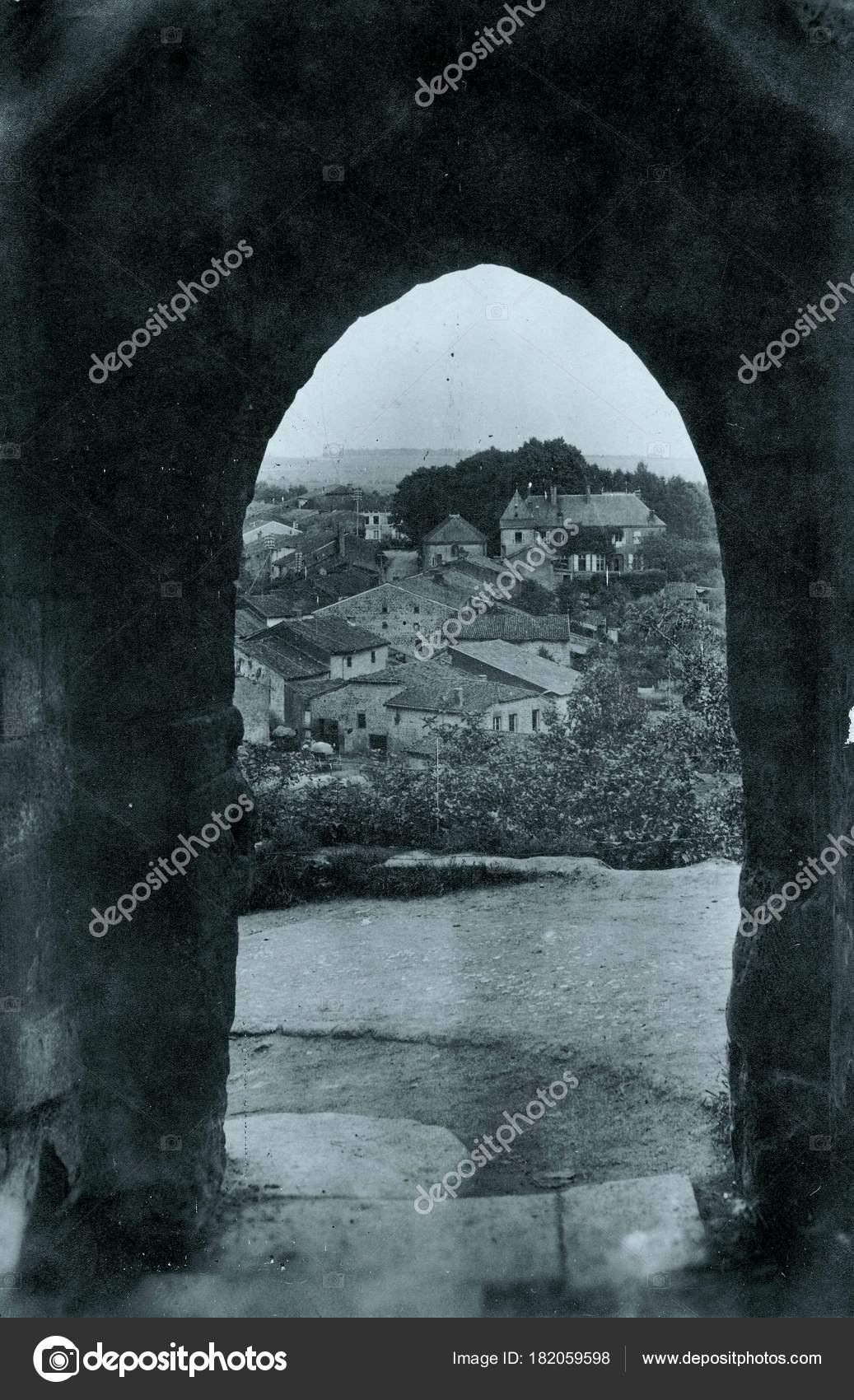 View Village Ark Stone Wall U2014 Stock Photo