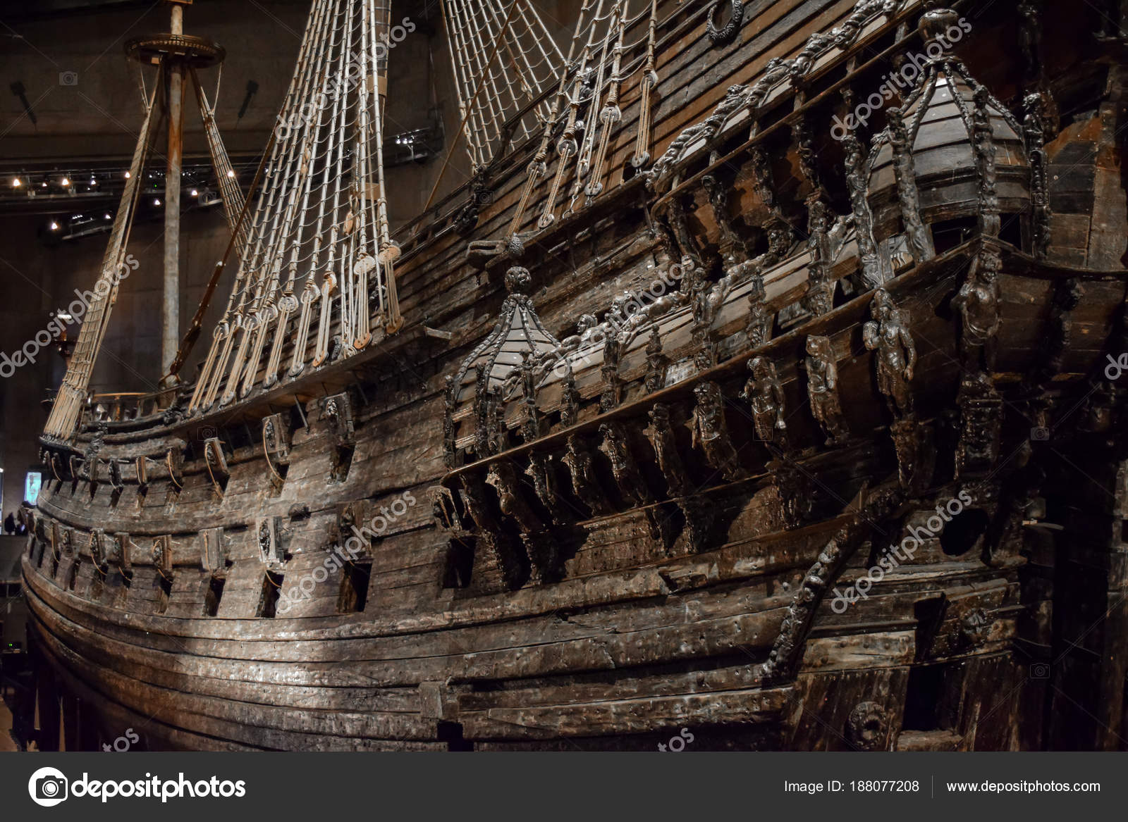 Stockholm, Sweden - 31 December 2017. Vasa Museum and Vasa Swedish Warship  Built Between 1626 and 1628 — Photo by [email protected]