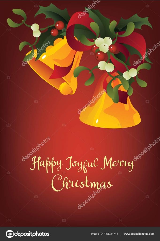 Saisonale Grußkarte A Happy fröhlich Merry Christmas und Jingle ...