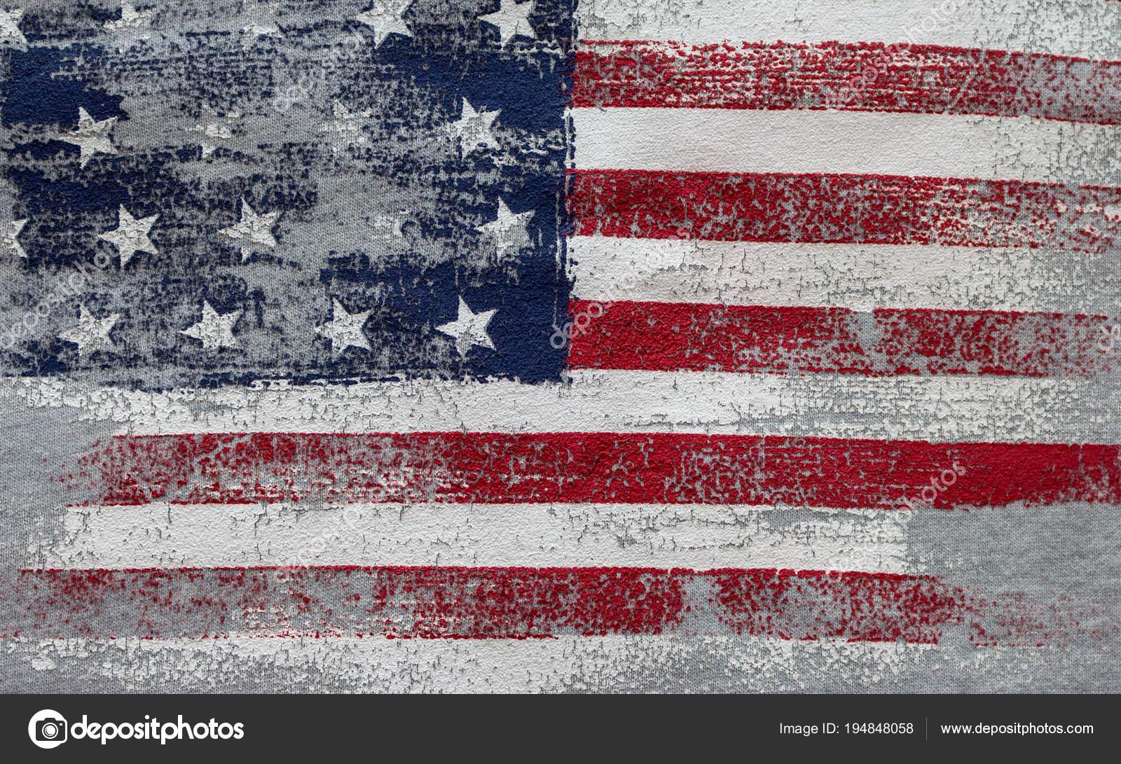 American Flag Vintage National Symbol Usa Stars Stripes Patriotic