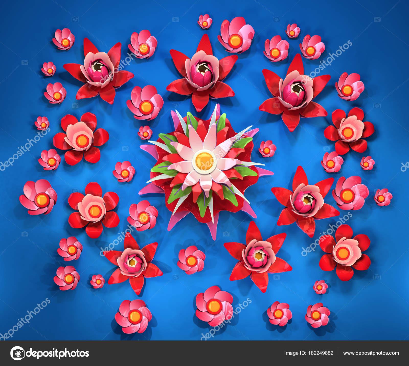Flor De Loto Dibujo A Color Dibujos Animados Estilizadas Flores