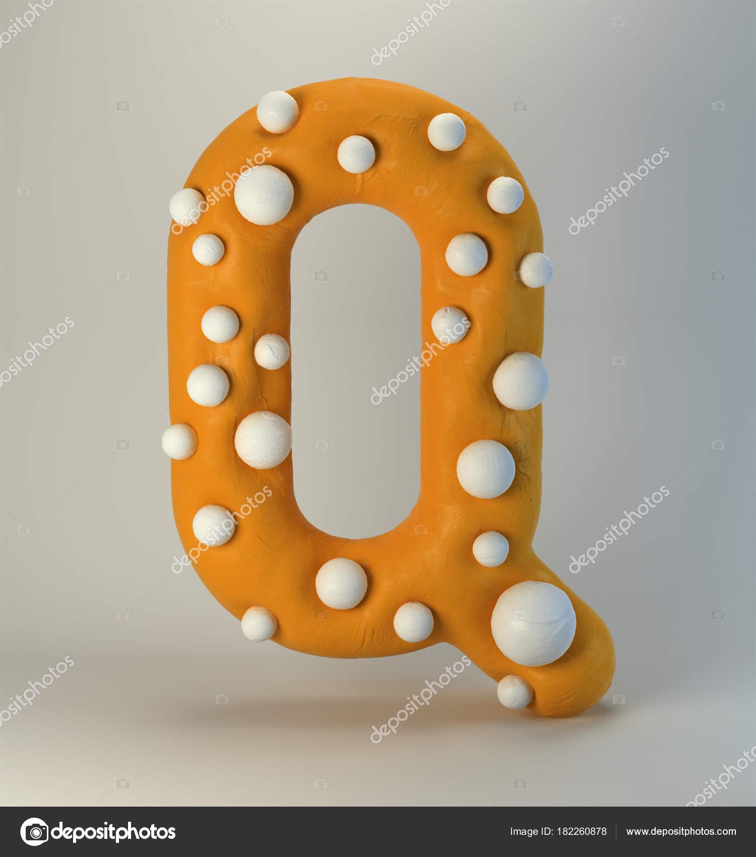Plastilina fatti mano lettera alfabeto stile cartone animato carino