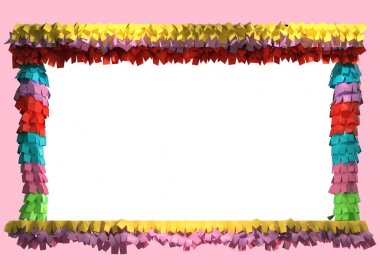 3d Pinata decoration. Colorful Mexican Fiesta theme