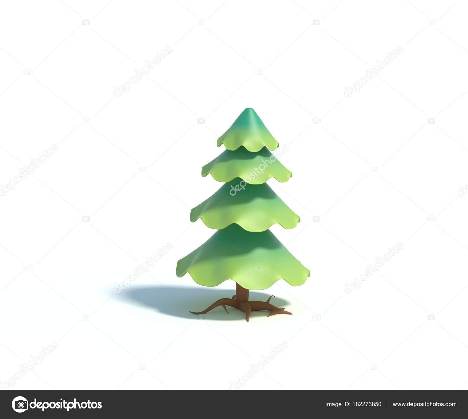 Fondo Arbol De Navidad Caricatura Sin Render Abeto Dibujos