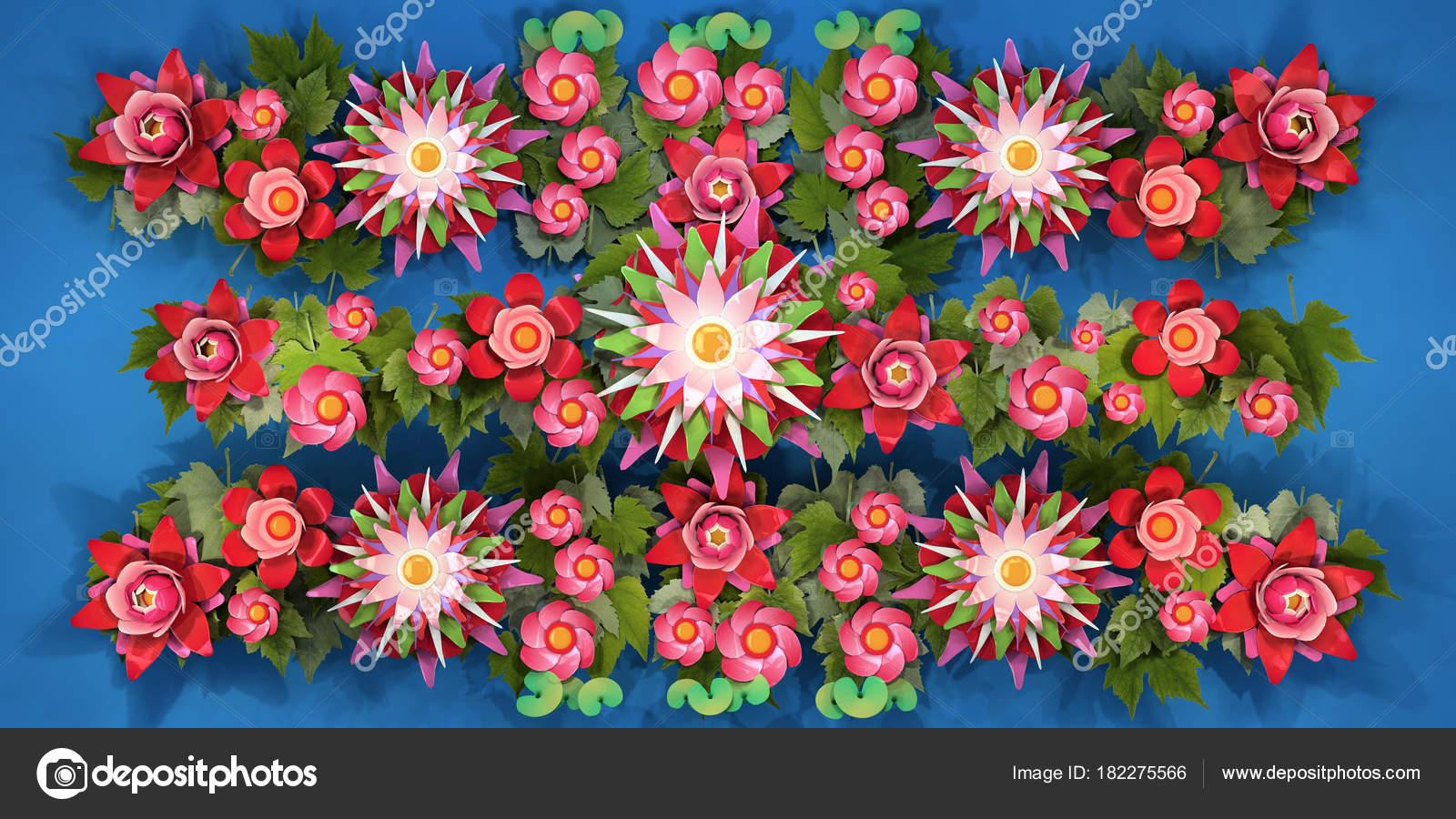 Dibujos Animados De Color Verde: Verde Flores Animadas De Colores