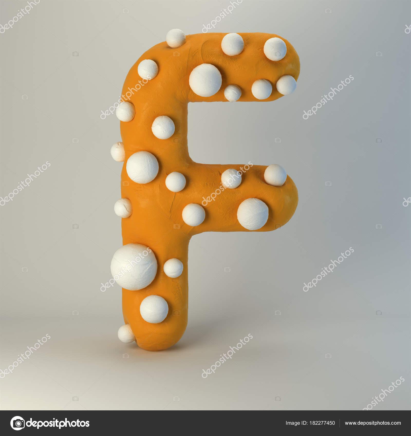 Plastilina fatti mano lettera alfabeto stile cartone animato