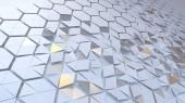 Verstreuten Sechseck geometrische Perspektivenraster