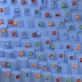 3D abstrakte geometrische hexagonalen Muster