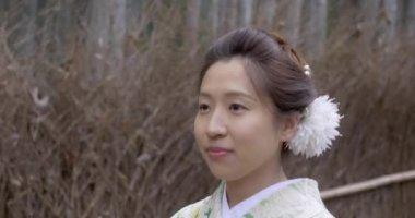 Sweet Japanese girl in kimono