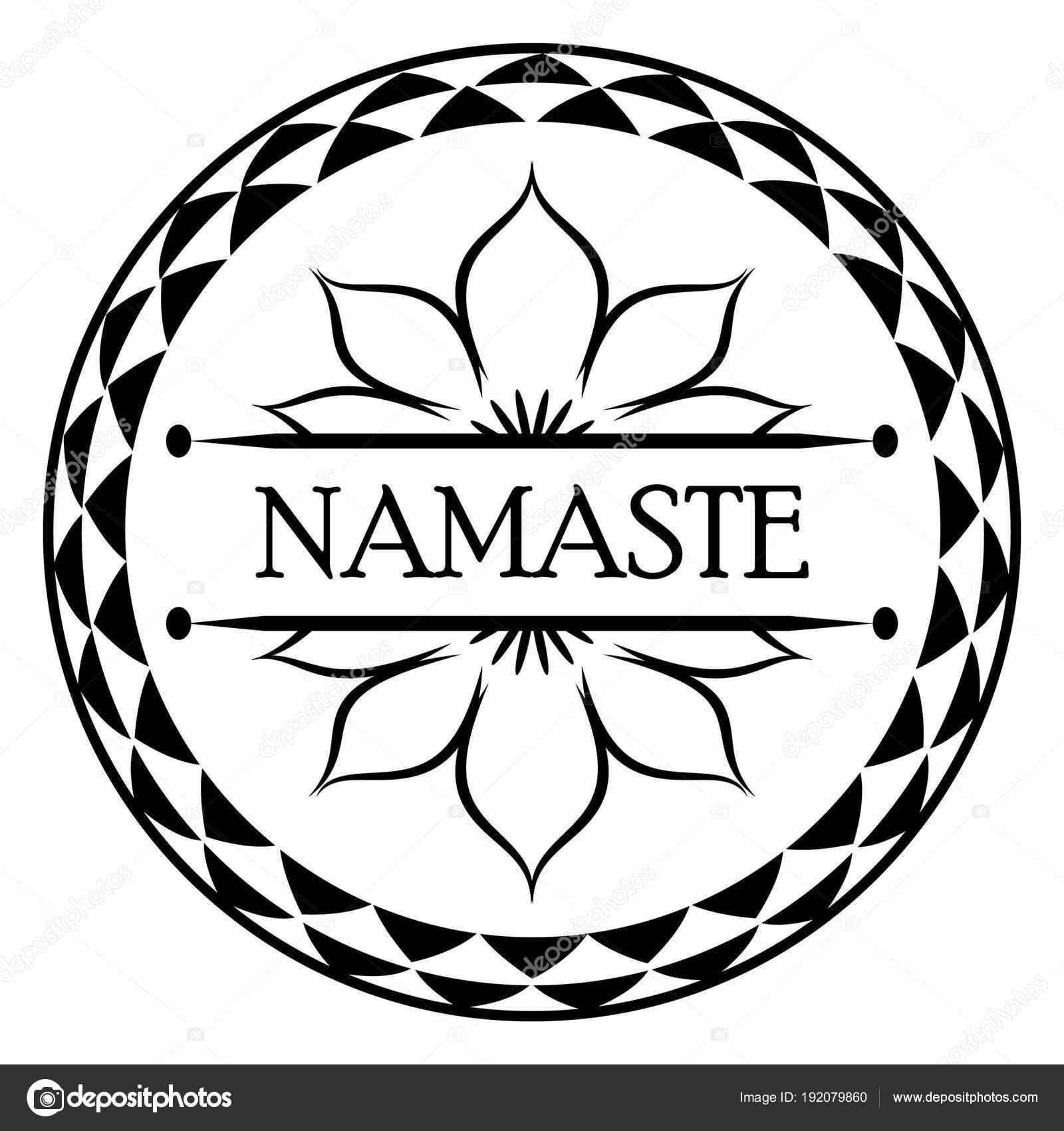 Bandera de India saludo Namaste — Vector de stock © Zanna26 #192079860