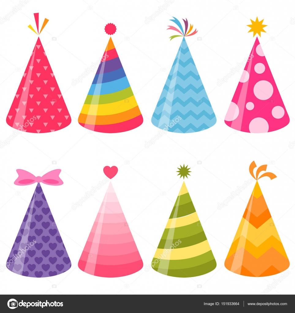 Cappelli di partito di compleanno impostato — Vettoriali Stock ... 3fd335e711d9