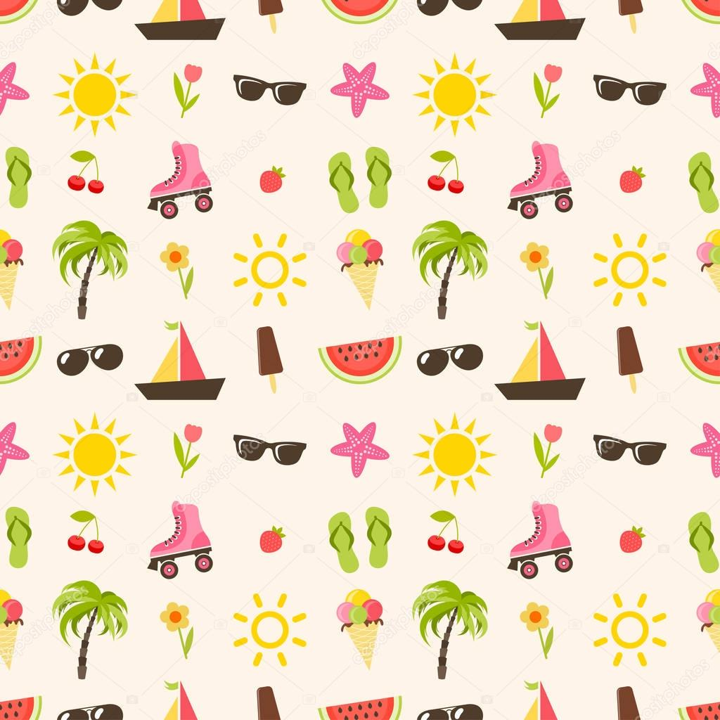 pattern with summer elements