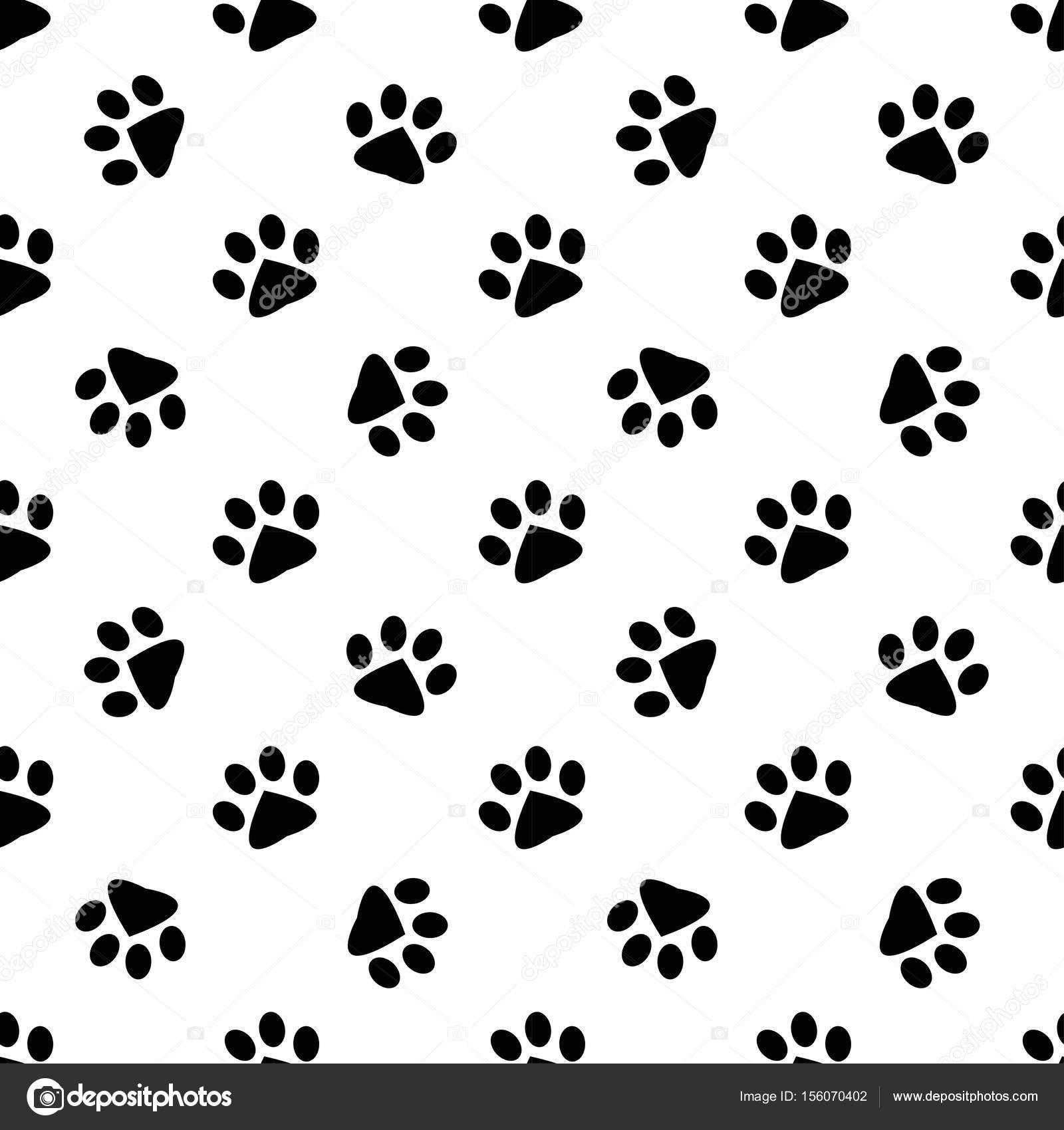 動物の足跡のパターン — ストックベクター © ann_precious #156070402