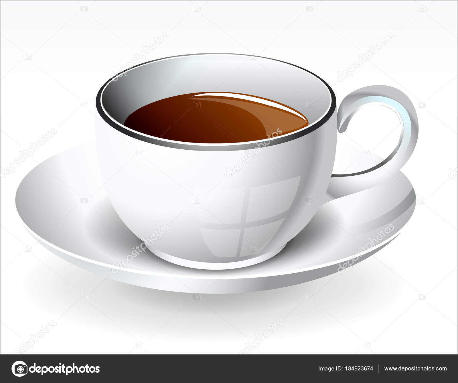 Tea Cup Saucer Vector Illustration Vector Image By C Vectorawesome Vector Stock 184923674