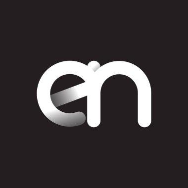 en  letters  logo  on dark background