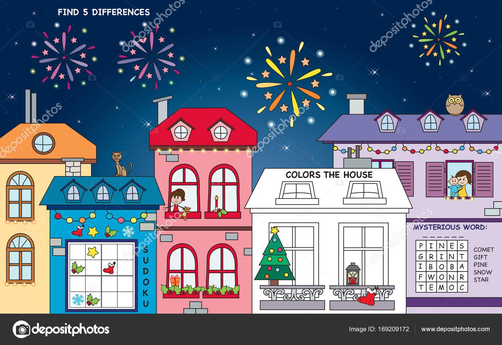 landschaft die weihnachtsspiele stockfoto
