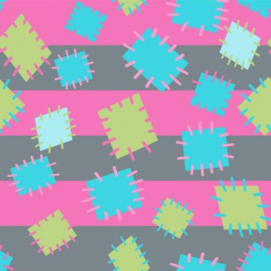Seamless pattern in color patches.