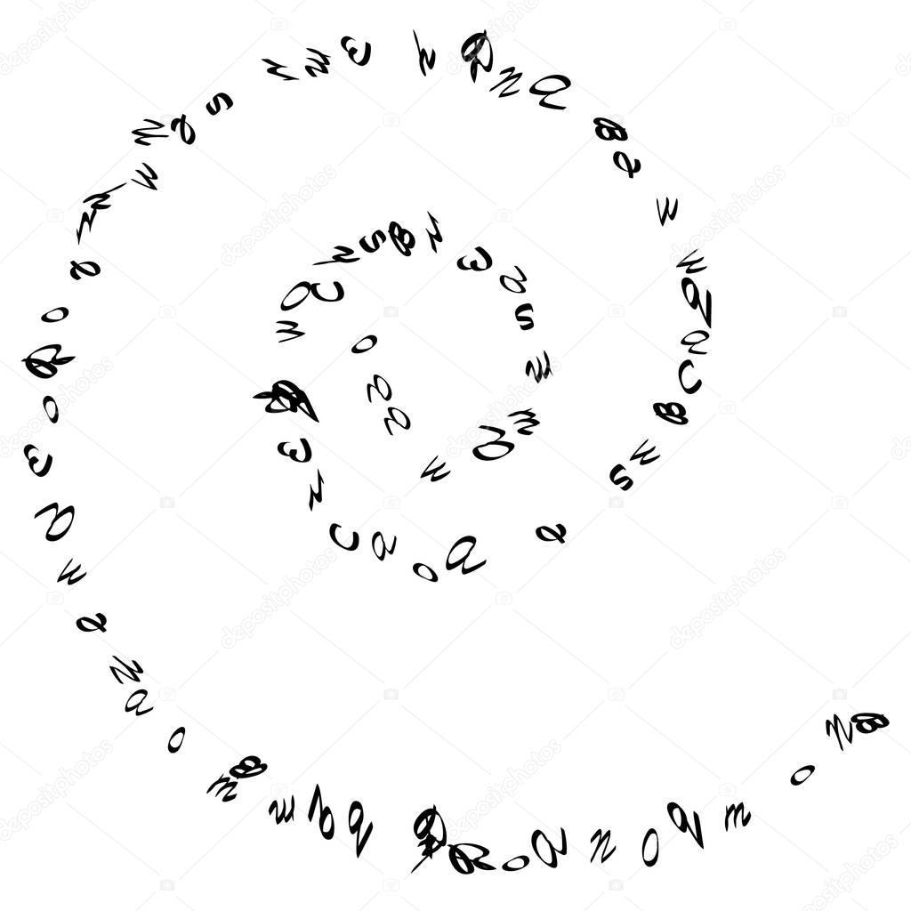 Zusammenfassung Hintergrund des schwarzen handschriftliche Briefe ...
