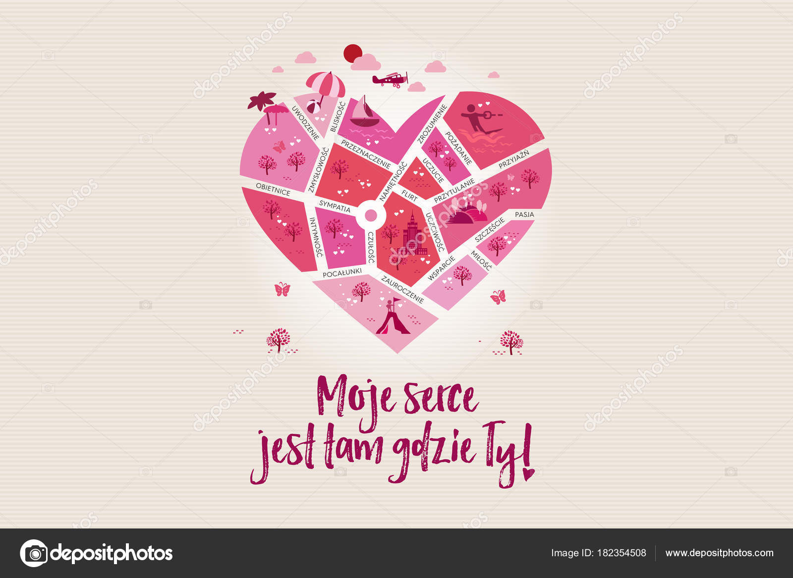Amor Mapa Corazón Donde Estás Forma Corazón Para Celebrar Día — Foto ...