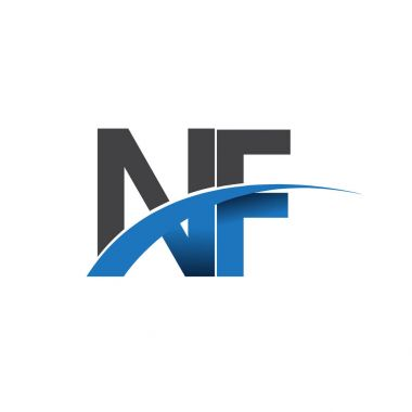 nf  letters  logo, initial logo identity for your business and company