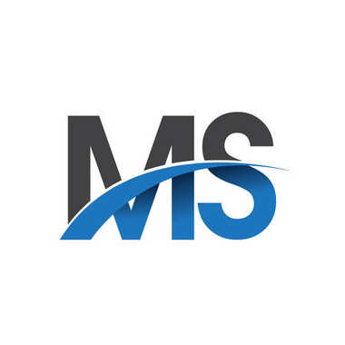 ms  letters  logo, initial logo identity for your business and company