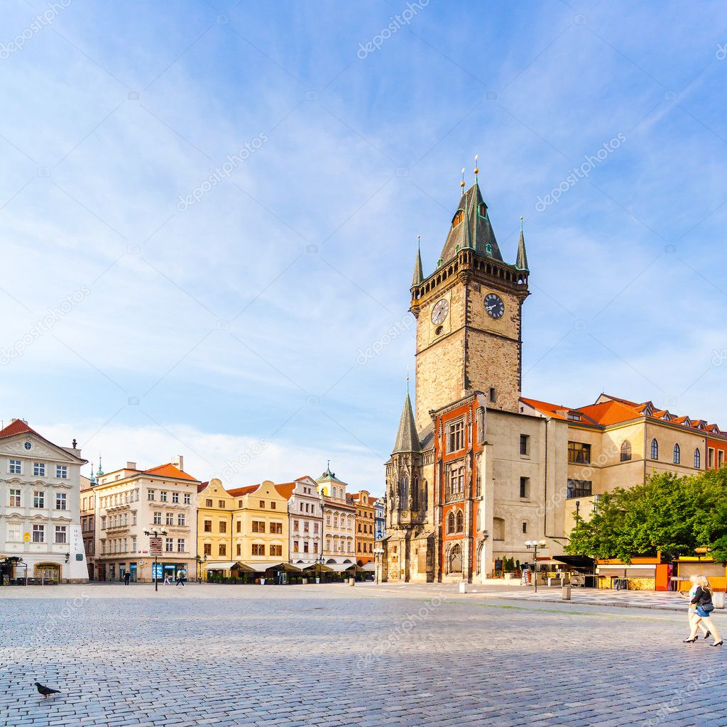 Фотообои Old Town City Hall in Prague, view from Square.