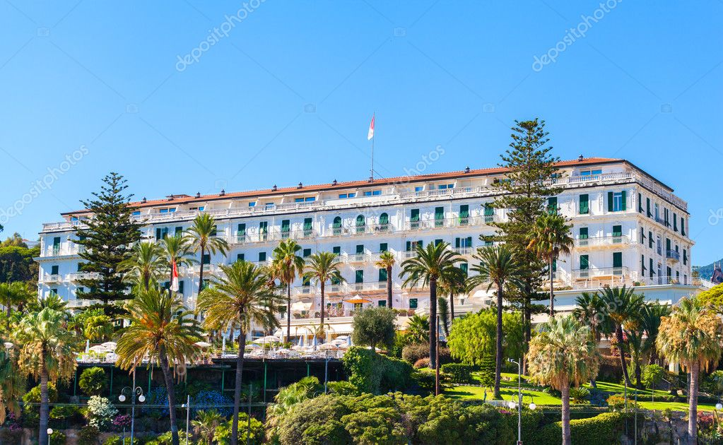 The building of famous hotel in San Remo, Italy