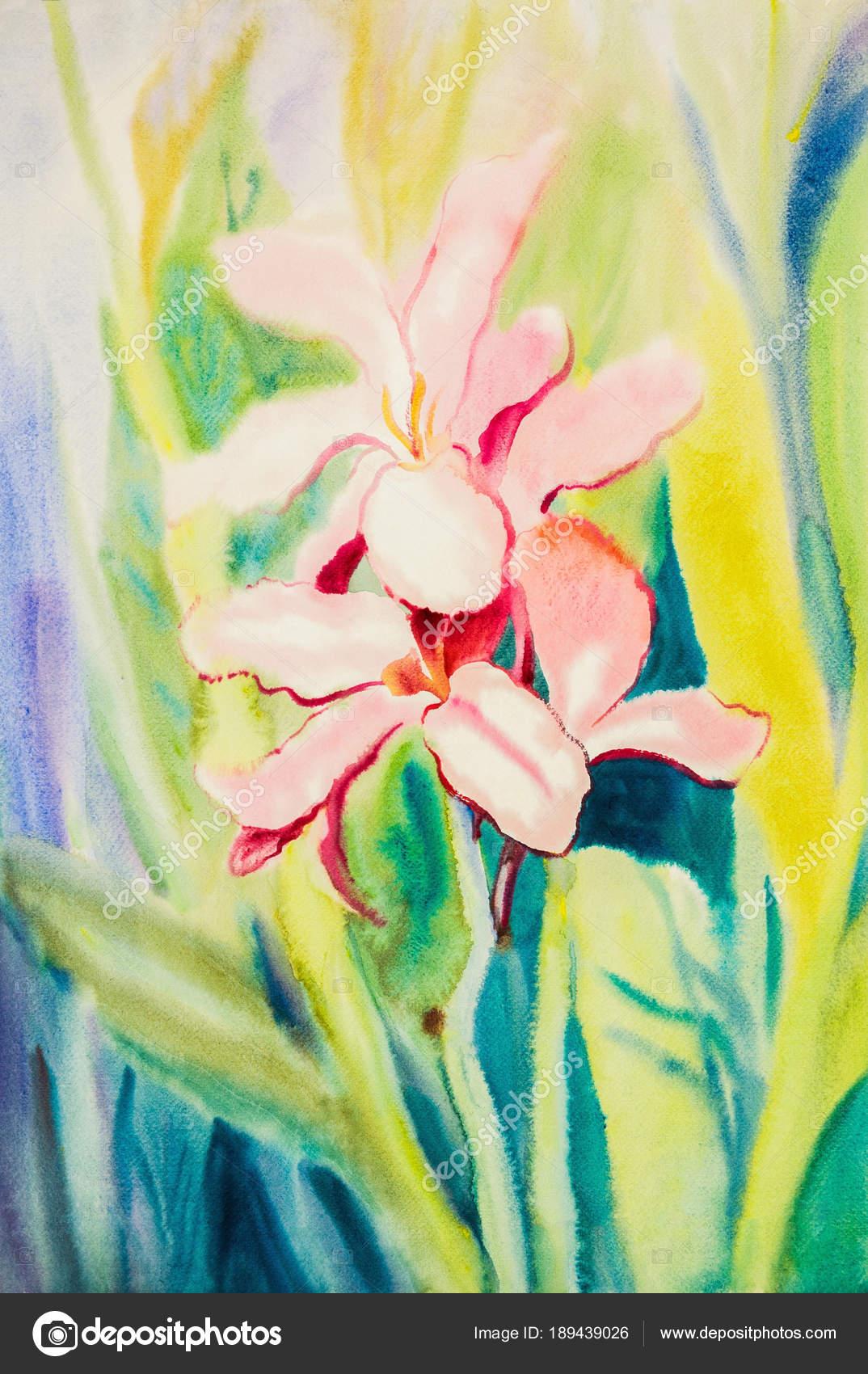 Watercolor original painting purple pink color of calla lily flower watercolor original painting purple pink color of calla lily flower stock photo izmirmasajfo
