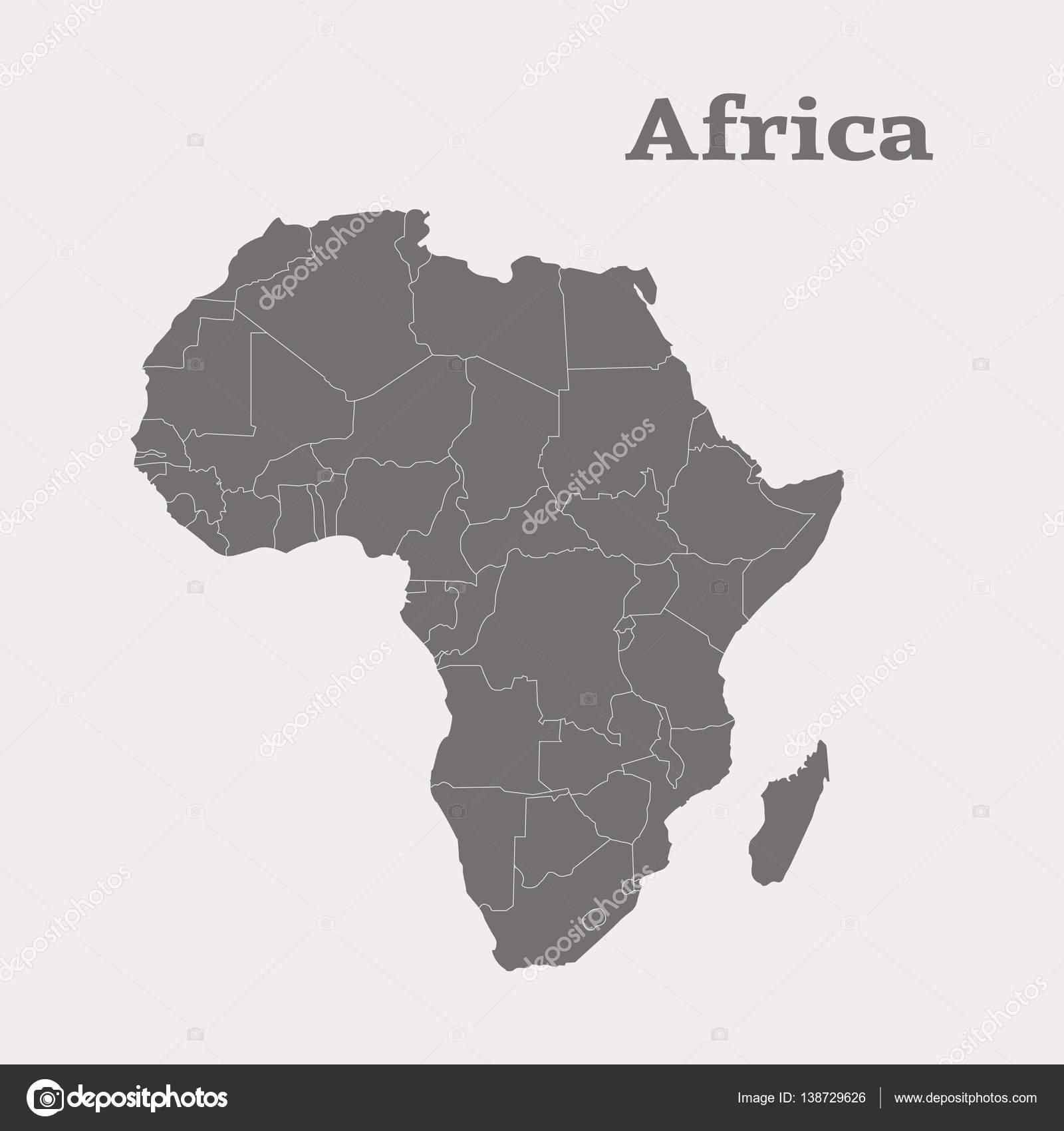 Cartina Muta Africa.Illustrazione Africa Cartina Muta Dell Africa