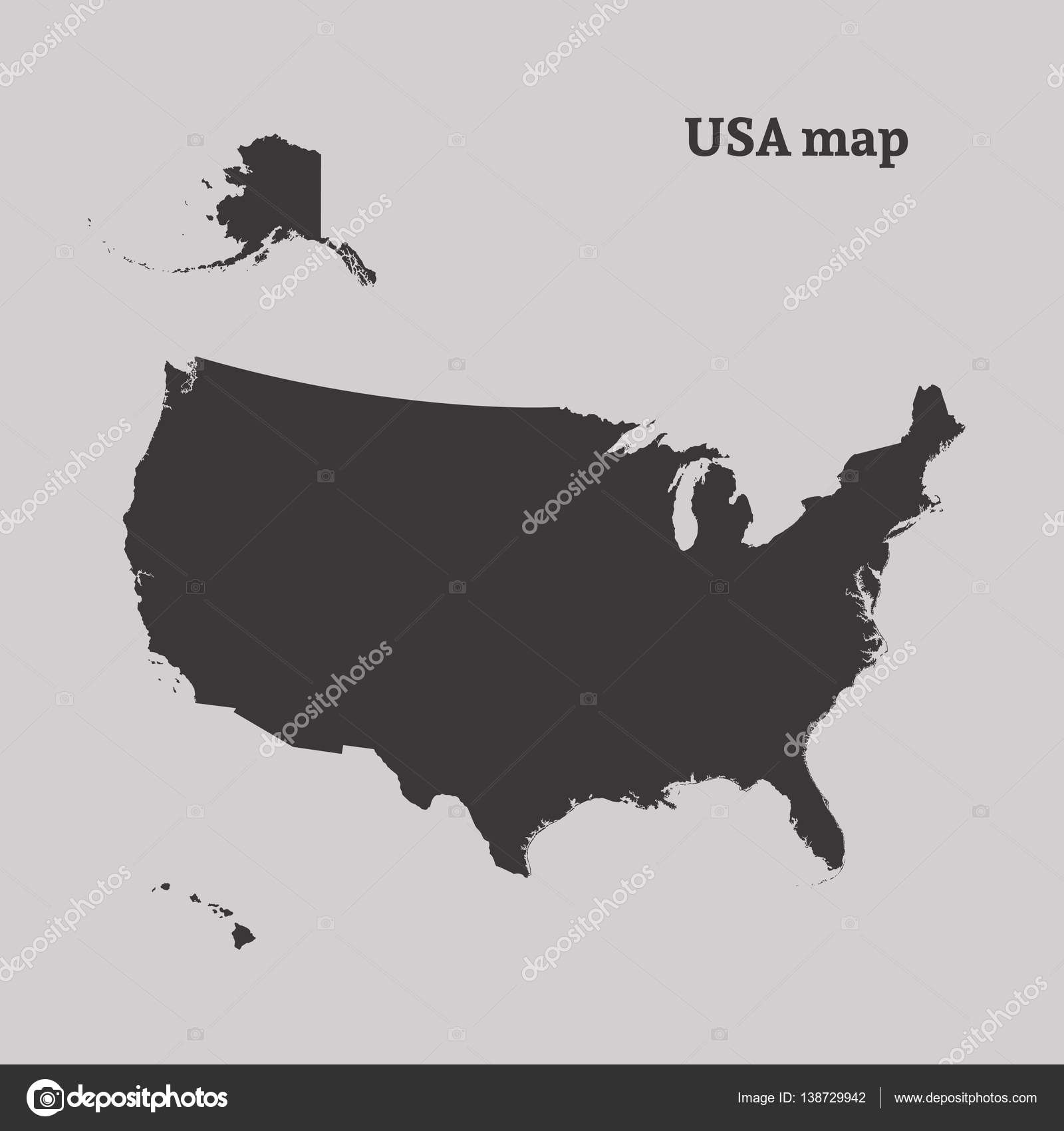 Cartina Muta Degli Stati Uniti.Cartina Muta Degli Stati Uniti Illustrazione Vettoriale
