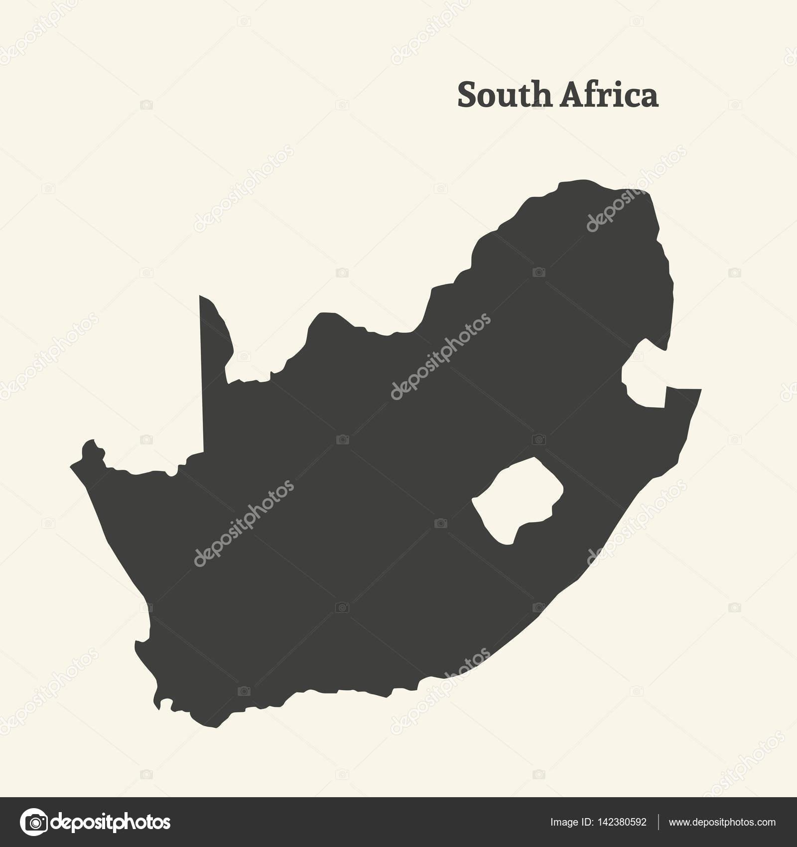 Cartina Muta Dellafrica Del Sud Illustrazione Di Vettore