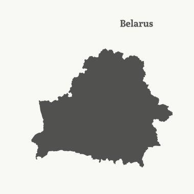 Outline map of Belarus.  vector illustration.