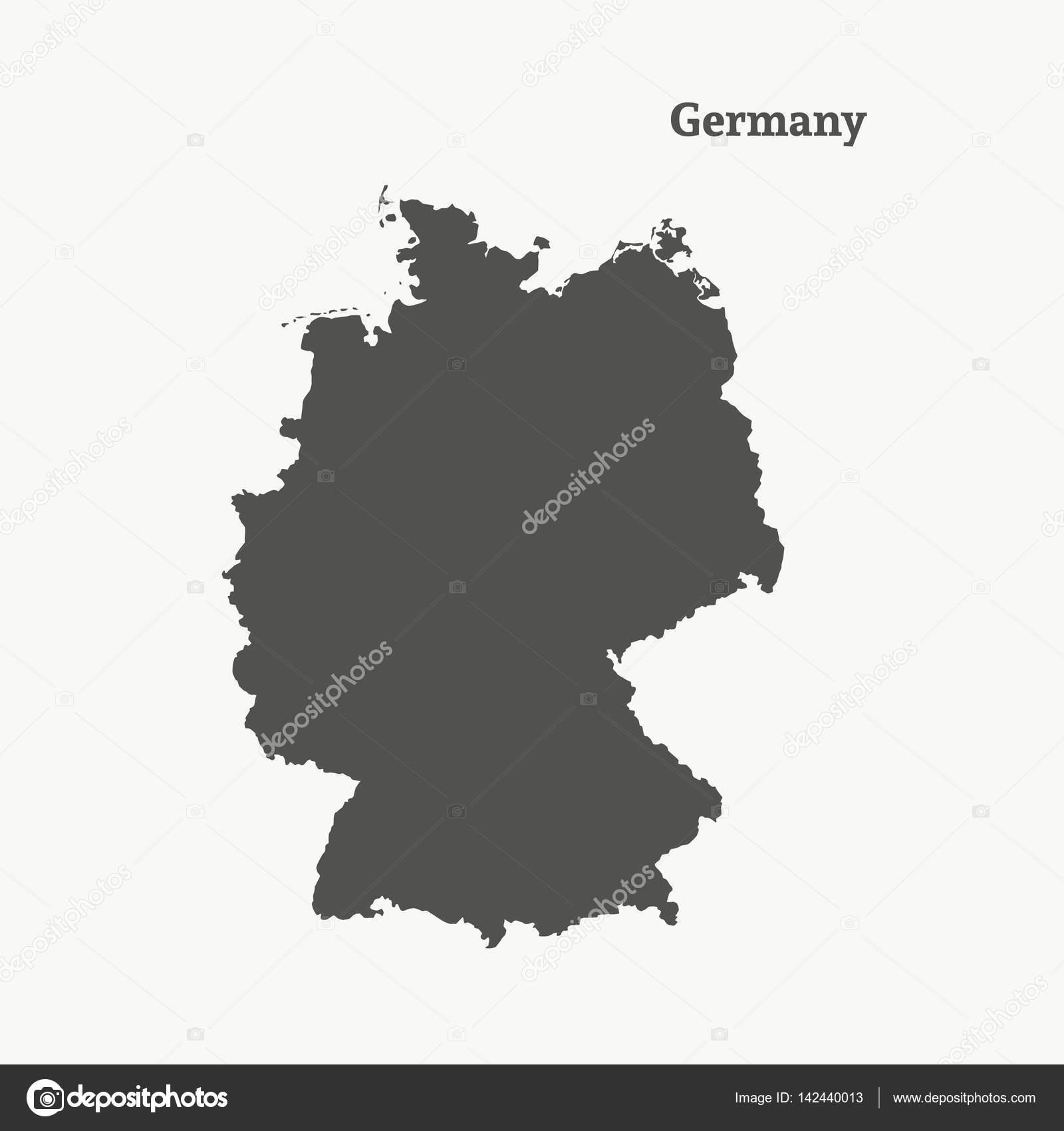 Map Of Germany Outline.Outline Map Of Germany Isolated Vector Illustration Stock Vector