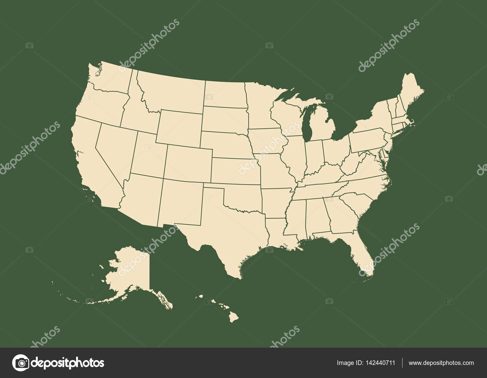 Cartina Fisica Muta Usa.Vettore Della Cartina Fisica Degli Stati Uniti Cartina