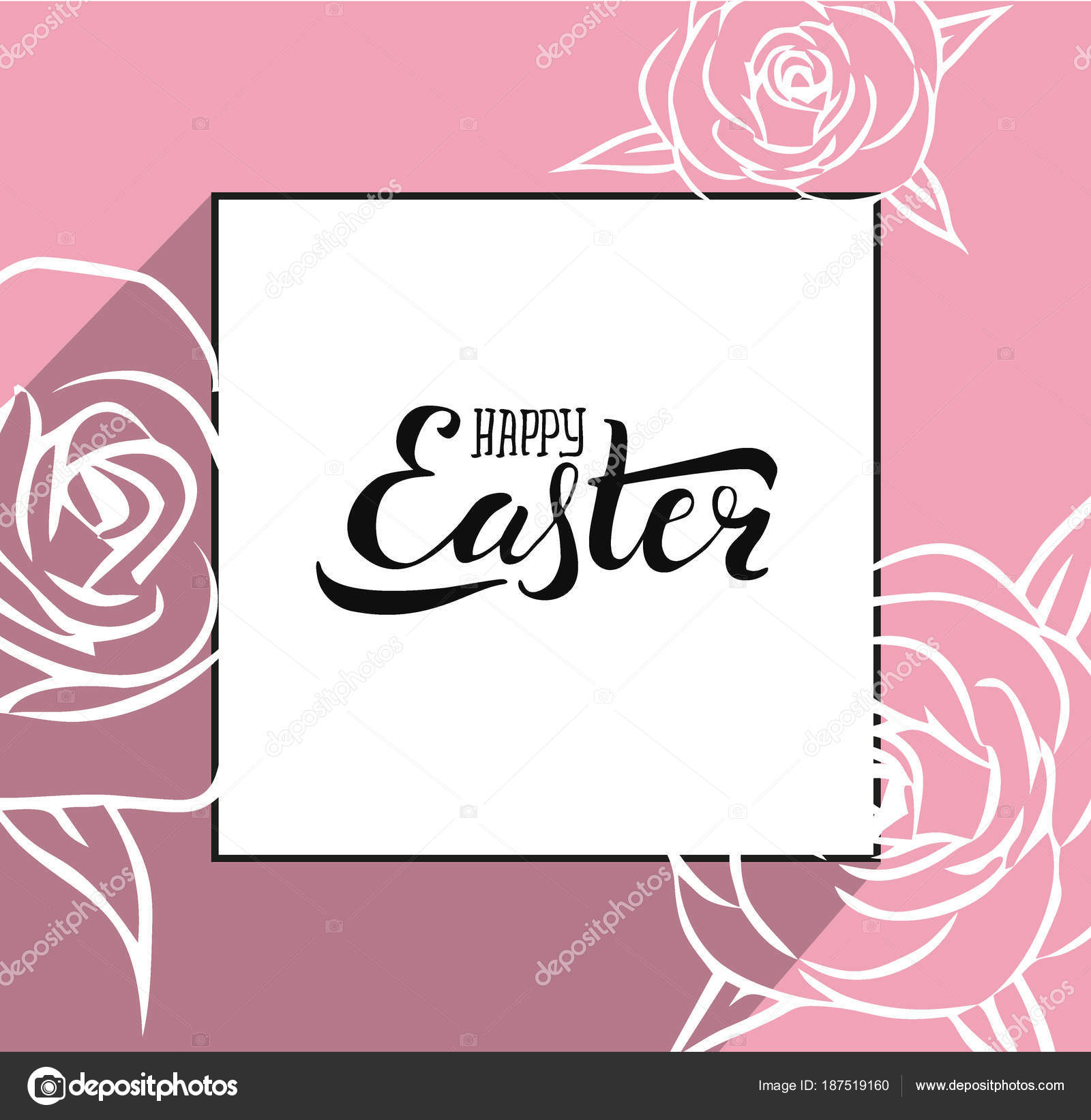 Hand sketched greeting card with easter egg and handwritten vector illustration for celebration postcard card invitation poster banner template seasons greetings vector by lanasham kristyandbryce Choice Image