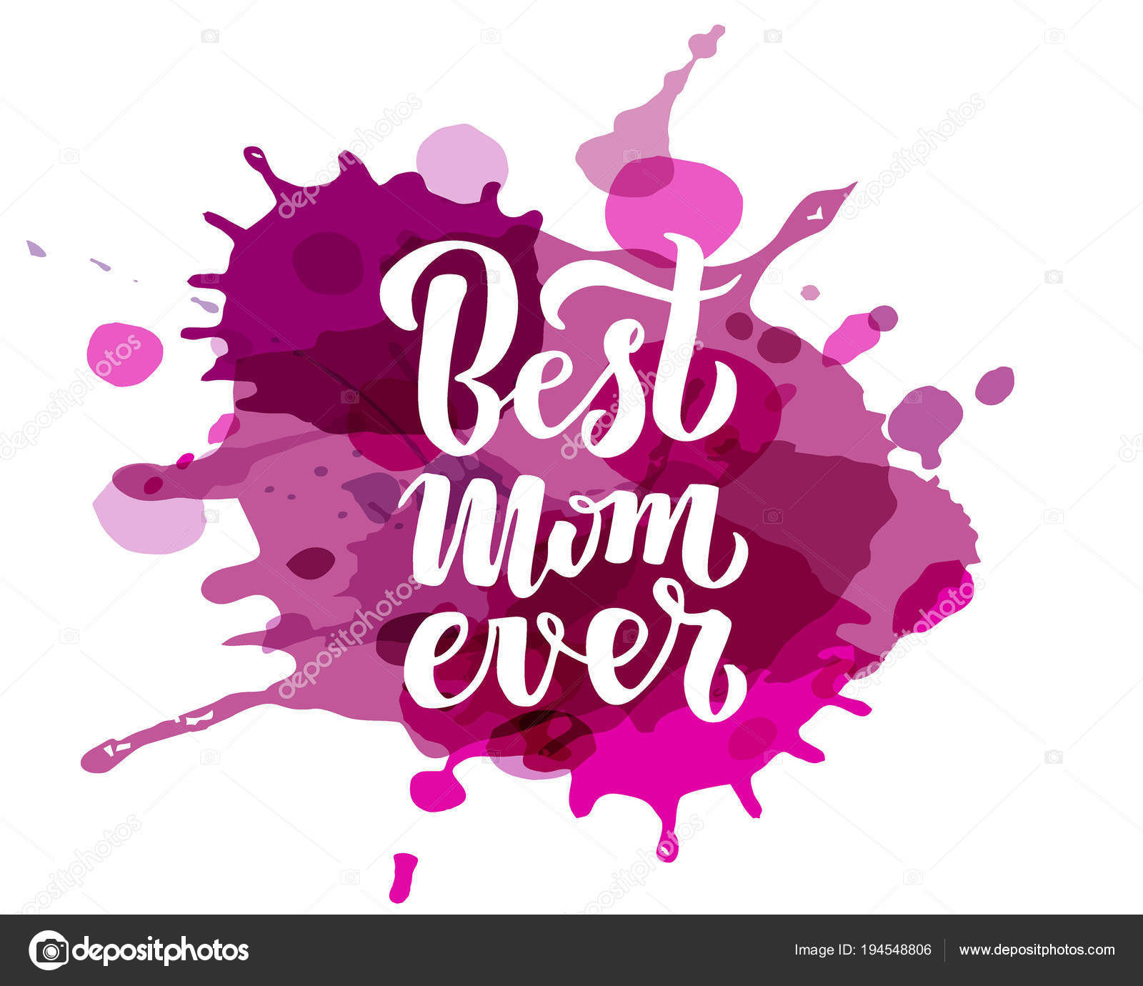 Quote Best Mom Ever Excellent Holiday Greeting Card Vector