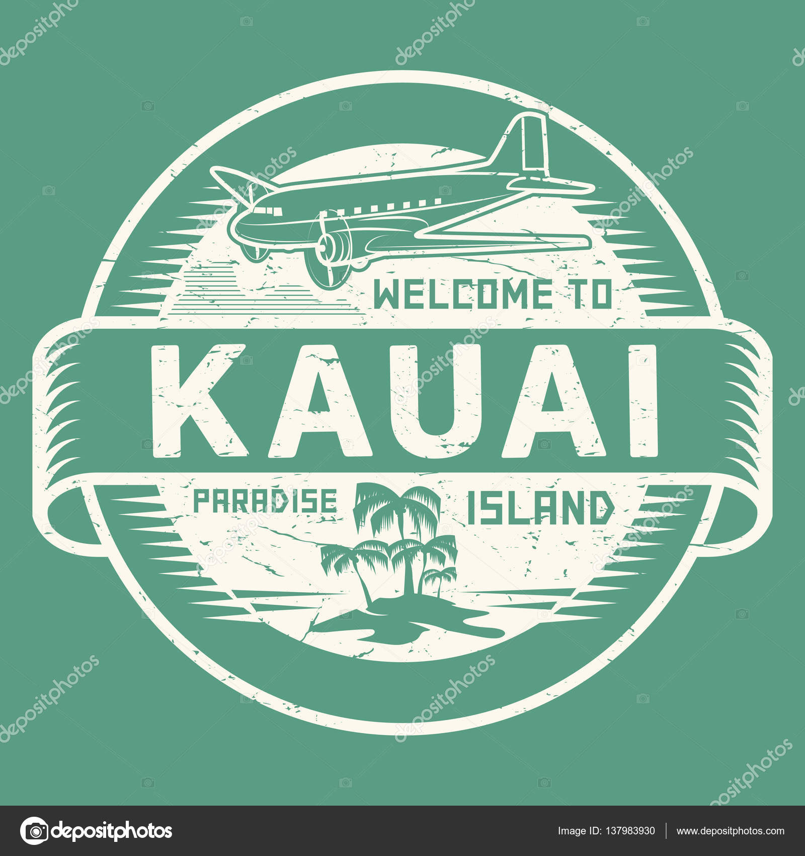 Stamp with the text welcome to kauai paradise island stock vector stamp with the text welcome to kauai paradise island stock vector buycottarizona Gallery