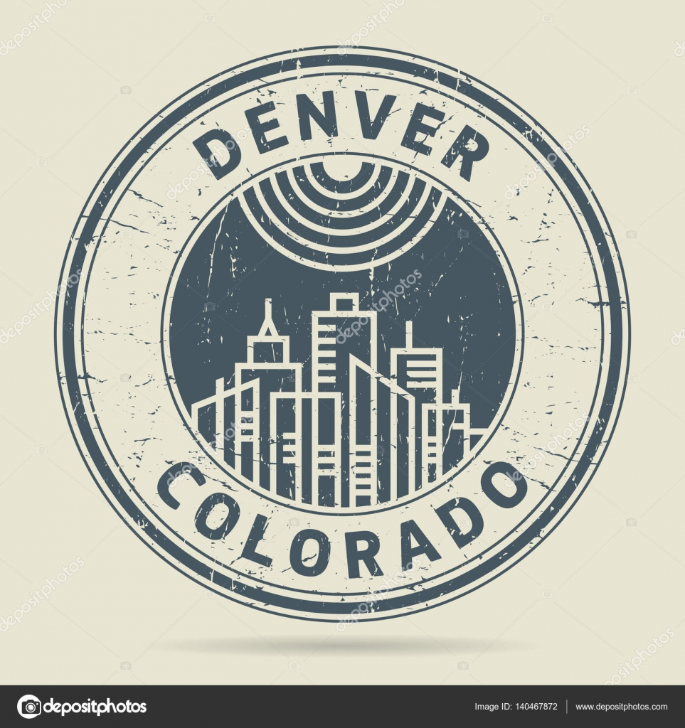 Grunge Rubber Stamp Or Label With Text Denver Colorado Stock Vector
